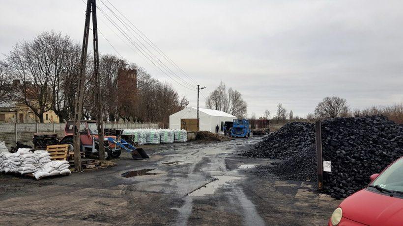 Namiot Skład Opału GS Ozorków